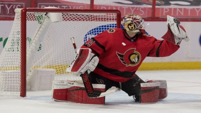 Ottawa Senators Goaltender Joey Daccord