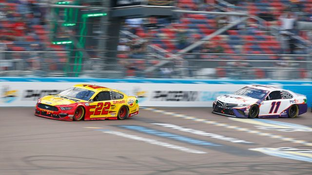 NASCAR drivers Joey Logano and Denny Hamlin and Phoenix Raceway