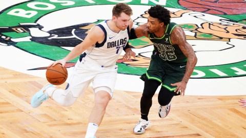 Dallas Mavericks guard Luka Doncic, Boston Celtics guard Marcus Smart