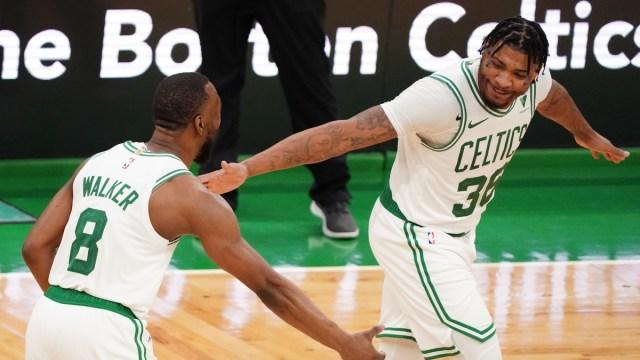 Boston Celtics guard Kemba Walker, Marcus Smart