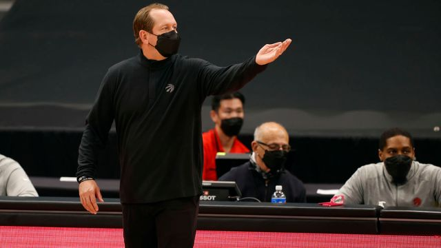 Toronto Raptors her coach Nick Nurse