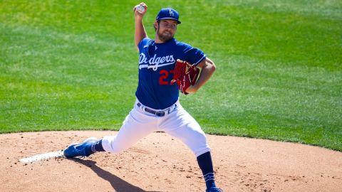 Los Angeles Dodgers pitcher Trevor Bauer
