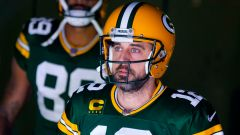 Green Back Packers Quarterback Aaron Rodgers