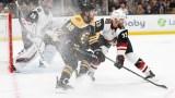 Boston Bruins winger David Pastrnak, Arizona Coyotes defenseman Alex Goligoski