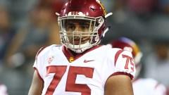 USC and potential Patriots offensive lineman Alijah Vera-Tucker