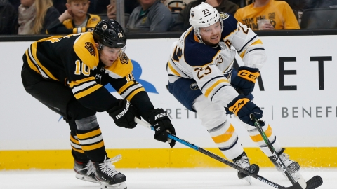 Buffalo Sabres winger Anders Bjork, Buffalo Sabres forward Sam Reinhart