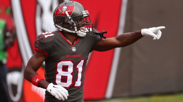 NFL free agent wide receiver Antonio Brown
