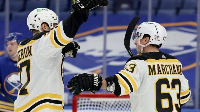 Boston Bruins Forward Brad Marchand, Patrice Bergeron
