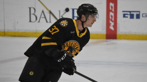 Boston Bruins defenseman Brady Lyle