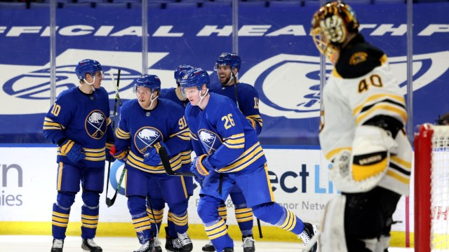 Boston Bruins goalie Tuukka Rask, Buffalo Sabres