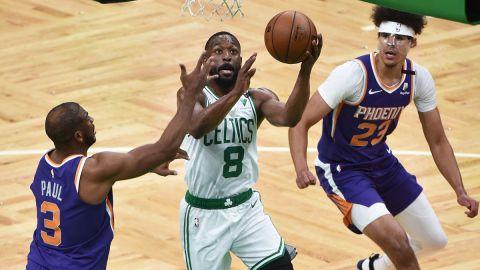 Phoenix Suns point guard Chris Paul and Boston Celtics point guard Kemba Walker
