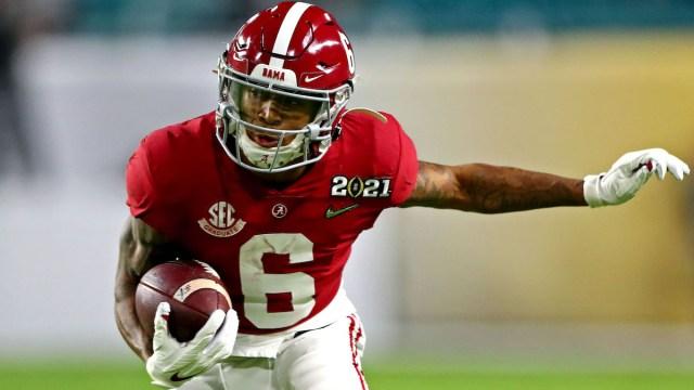 Alabama NFL Draft prospect and potential Patriots wide receiver DeVonta Smith
