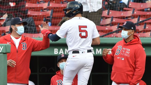 Boston Red Sox infielder/outfielder Enrique Hernandez