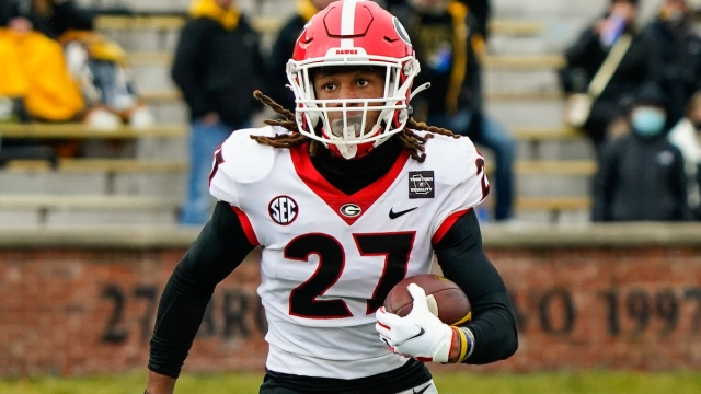 Georgia NFL Draft prospect and potential Patriots cornerback Eric Stokes