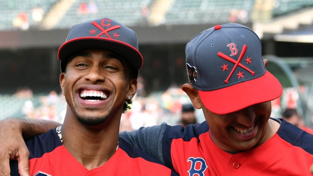 New York Mets Shortstop Francisco Lindor And Boston Red Sox Manager Alex Cora