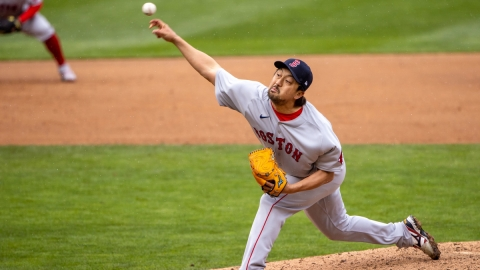 Boston Red Sox relief pitcher Hirokazu Sawamura