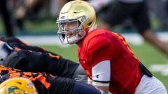 National quarterback Ian Book of Notre Dame