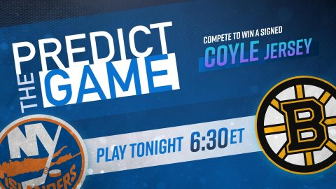 "Bruins-Islanders ""Predict the Game"""