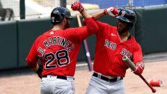 Red Sox stars J.D. Martinez and Xander Bogaerts
