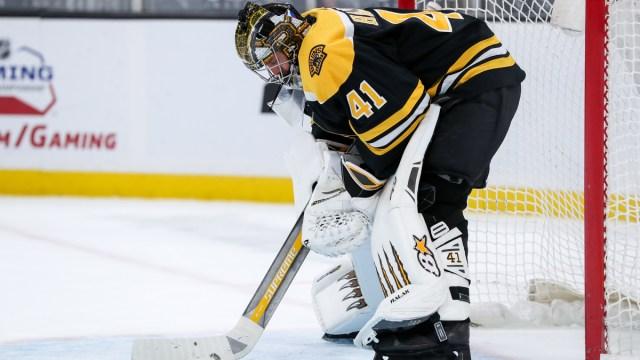 Boston Bruins goalie Jaroslav Halak