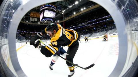 Boston Bruins defenseman Jarred Tinordi (84)
