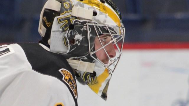 Providence Bruins goalie Jeremy Swayman