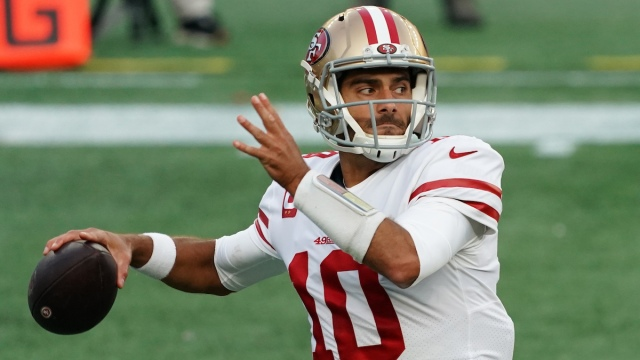 San Francisco 49ers and former New England Patriots quarterback Jimmy Garoppolo