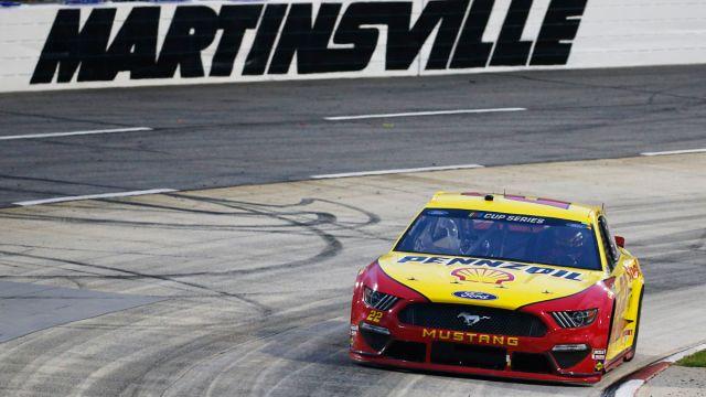 NASCAR driver Joey Logano at Martinsville Speedway