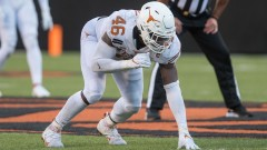 Texas NFL Draft prospect and potential Patriots edge defender Joseph Ossai