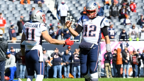 Former New England Patriots Wide Receiver Julian Edelman And Tampa Bay Buccaneers Quarterback Tom Brady