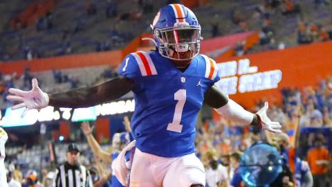 Florida and potential Patriots wide receiver Kadarius Toney