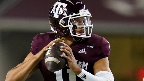 Texas A&M quarterback and potential Patriots QB Kellen Mond