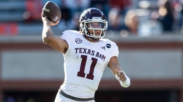 Texas A&M NFL Draft prospect and potential Patriots quarterback Kellen Mond