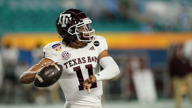 Texas A&M quarterback Kellen Mond
