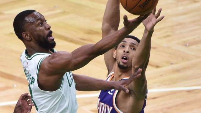 Boston Celtics point guard Kemba Walker, Phoenix Suns guard Cameron Payne