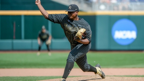 Vanderbilt pitcher Kumar Rocker