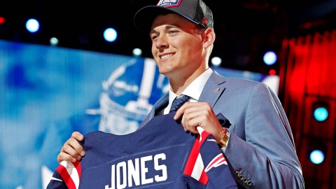 New England Patriots quarterback Mac Jones