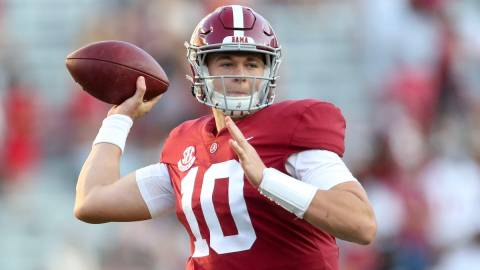 Alabama and potential Patriots quarterback Mac Jones