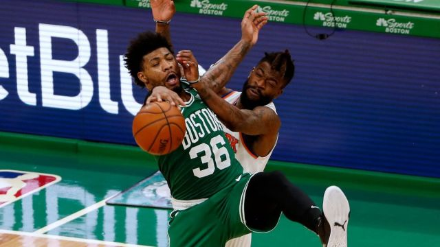 Boston Celtics point guard Marcus Smart