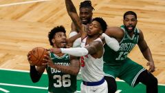 Boston Celtics guard Marcus Smart, center Tristan Thompson