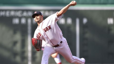 Boston Red Sox starting pitcher Martín Pérez