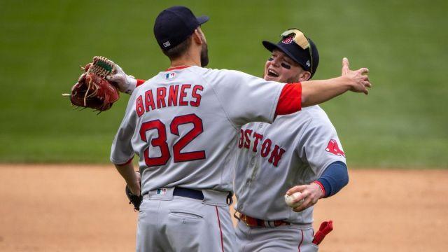 Boston Red Sox closer Matt Barnes, outfielder Alex Verdugo