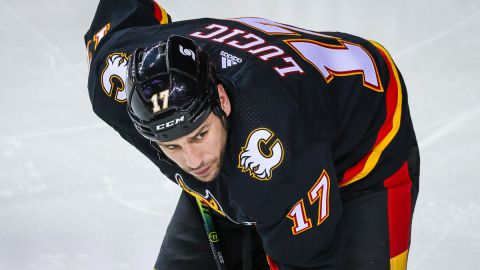 Calgary Flames winger Milan Lucic