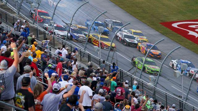 NASCAR drivers at Talladega Superspeedway