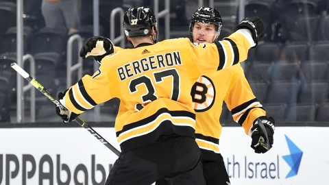Boston Bruins Forwards Patrice Bergeron And Taylor Hall