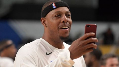 Retired NBA player Paul Pierce