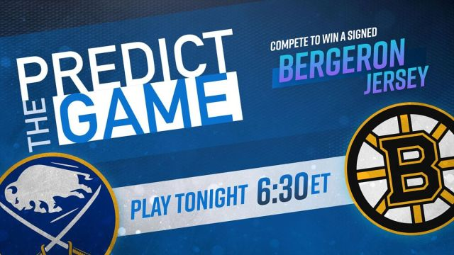 Bruins-Sabres Predict The Game