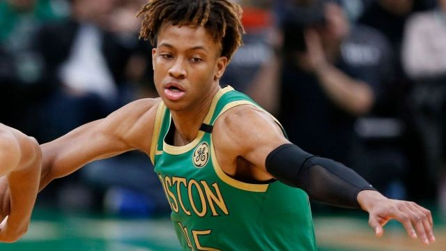 Boston Celtics guard Romeo Langford