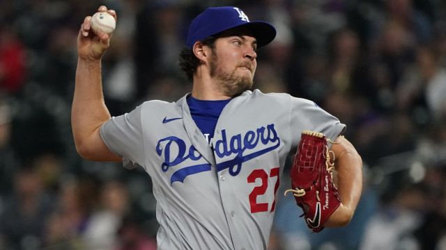Los Angeles Dodgers pitcher Trevor Bauer