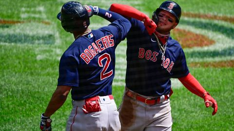 Boston Red Sox shortstop Xander Bogaerts and outfielder Alex Verdugo